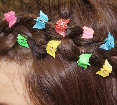 clips in hair